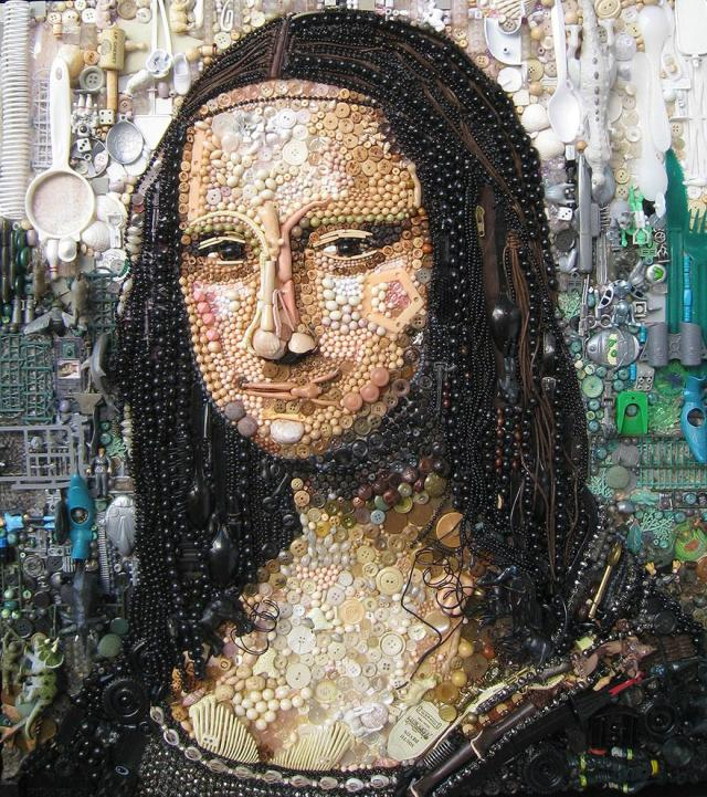 Junk Portraits Jane Perkins