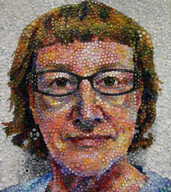 Mary-Ellen-Croteau-Bottle-Cap-Self-Portrait 1