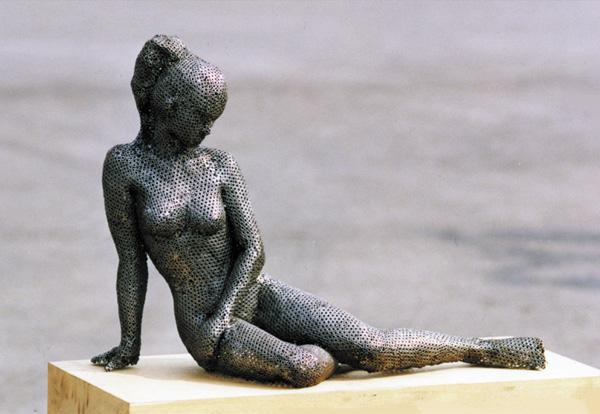 Steel Nut Sculptures Park Chan girl 4