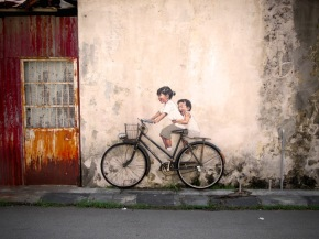 interactive illusion  Ernest Zacharevic 2