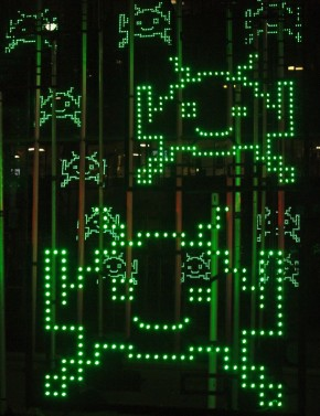 Space Invaders Light Installation Yves Caizergues 1