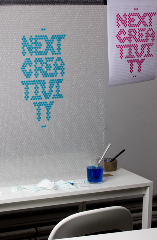 Bubble Wrap Typography By  Lo Siento 6