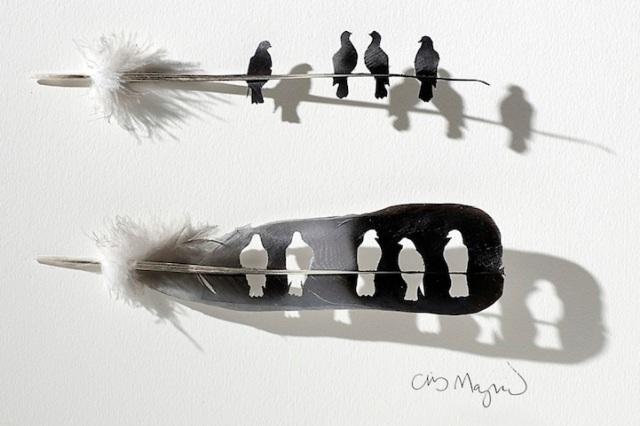 intricate feather cutouts chris maynard 8