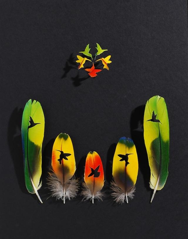 intricate feather cutouts chris maynard