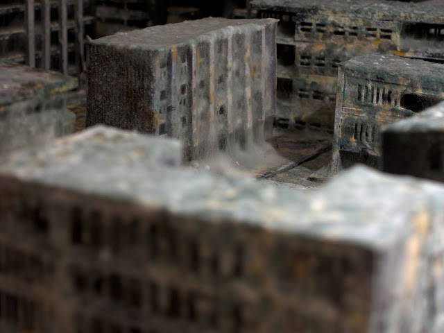 Mold covered model buildings Daniele del Nero 11
