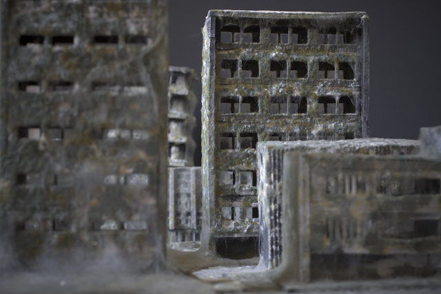 Mold covered model buildings Daniele del Nero 13