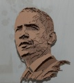 Multi-layered sculptures  obama Micheal Murphy 4