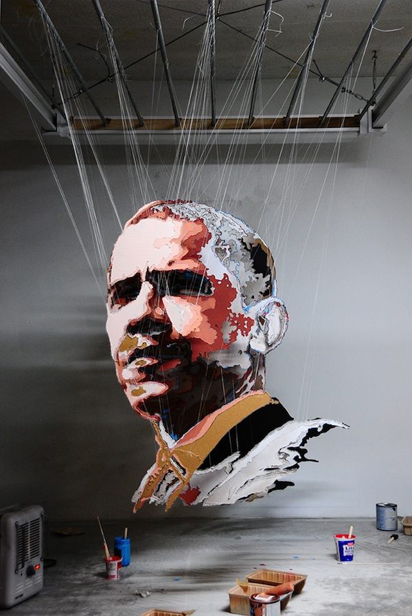 Multi-layered sculptures  obama Micheal Murphy 5