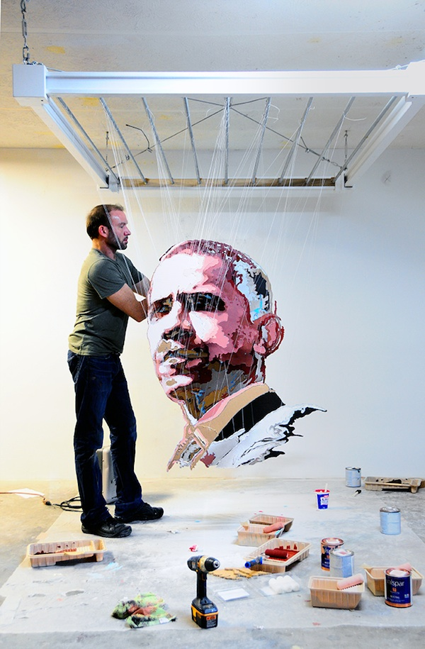 Multi-layered sculptures  obama Micheal Murphy