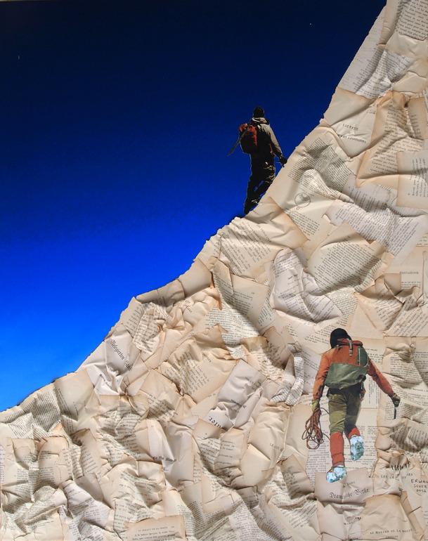 Paper Mountain Climbers Erwan Soyer 2