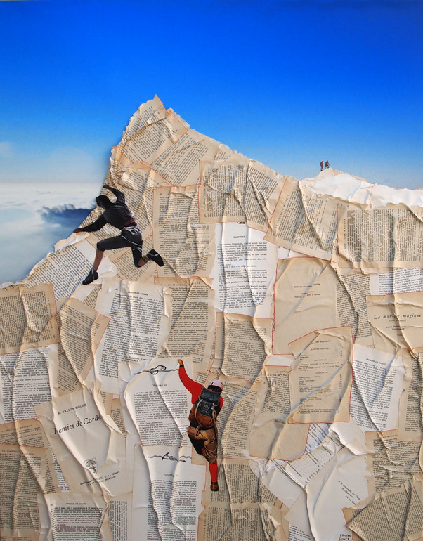 Paper Mountain Climbers Erwan Soyer