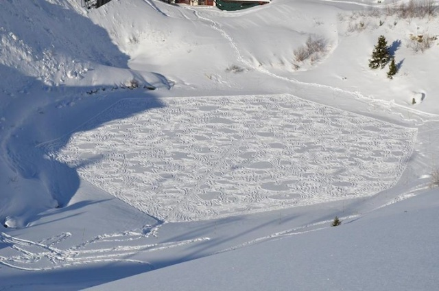 Trampled Snow Art Simon Beck 4