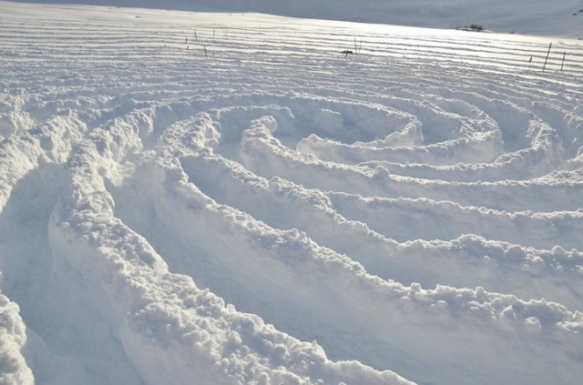 Trampled Snow Art Simon Beck