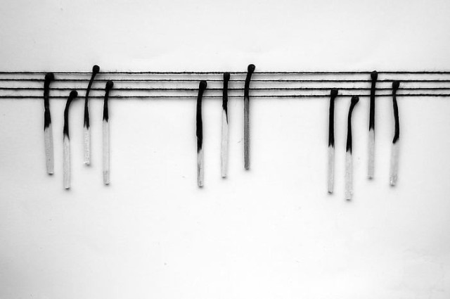 burnt matches in black and white Alexey Menschikov 16