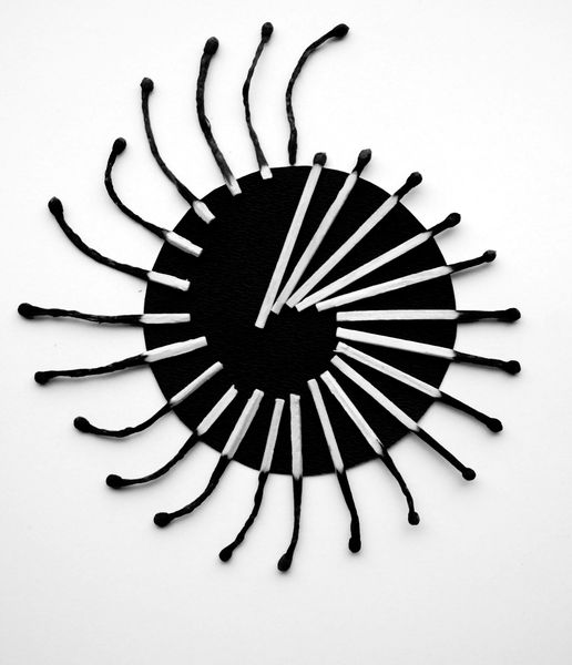 burnt matches in black and white Alexey Menschikov 6