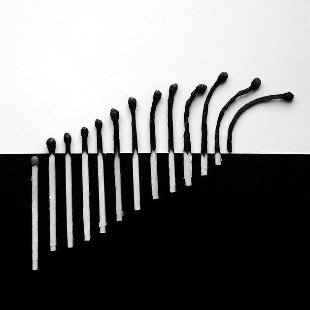burnt matches in black and white Alexey Menschikov 7