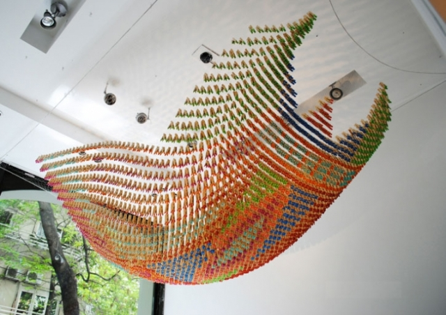 clothespins installation Normal Studio 1