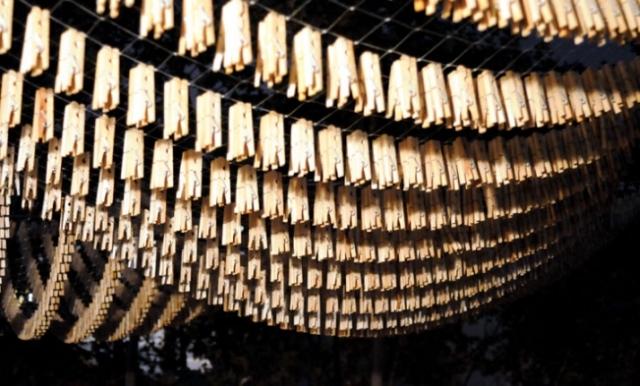 clothespins installation Normal Studio 17