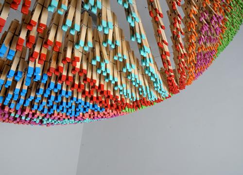 clothespins installation Normal Studio 8