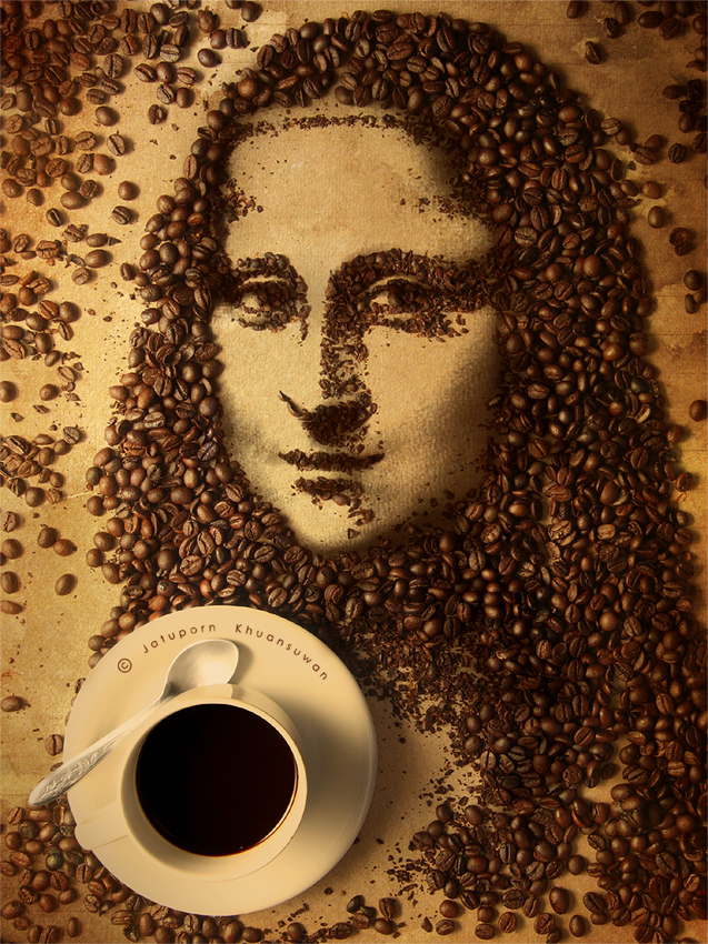 coffee art Jatuporn K.suwan gioconda