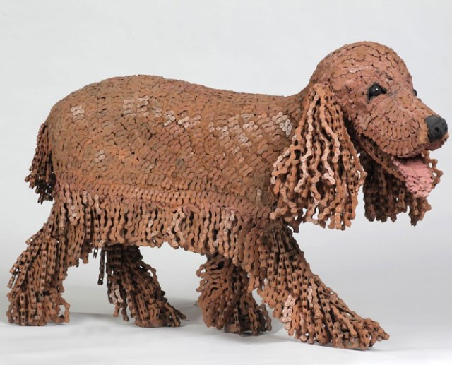Dog Sculptures Made with Bicycle Parts Nirit Levav Packer 12