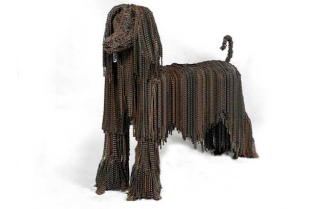 Dog Sculptures Made with Bicycle Parts Nirit Levav Packer 3
