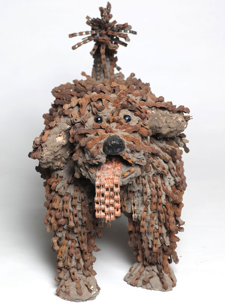 Dog Sculptures Made with Bicycle Parts Nirit Levav Packer 4