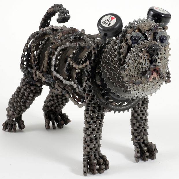 Dog Sculptures Made with Bicycle Parts Nirit Levav Packer 6