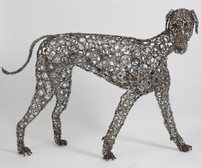 Dog Sculptures Made with Bicycle Parts Nirit Levav Packer 8