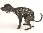 Dog Sculptures Made with Bicycle Parts Nirit Levav Packer