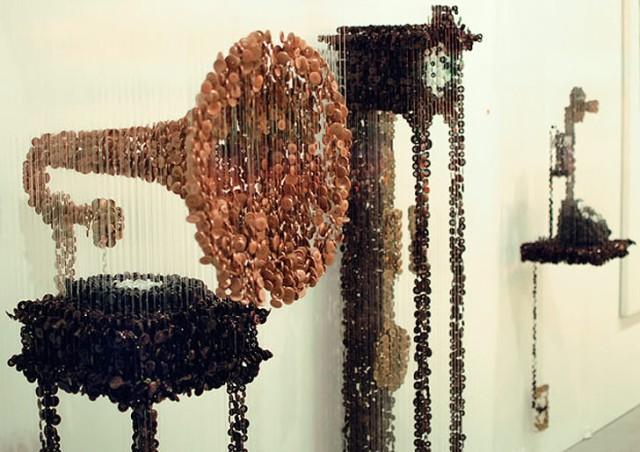 floating button 3d sculptures augusto esquivel