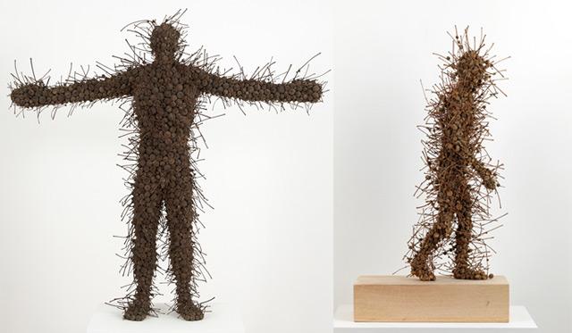 Anna Gillespie Nature Art Sculptures Acorns Beechnut Casings Bronze 3