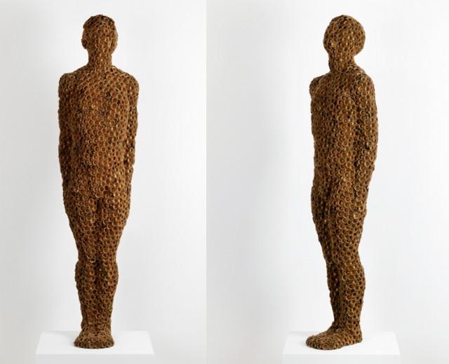 Anna Gillespie Nature Art Sculptures Acorns Beechnut Casings Bronze 4