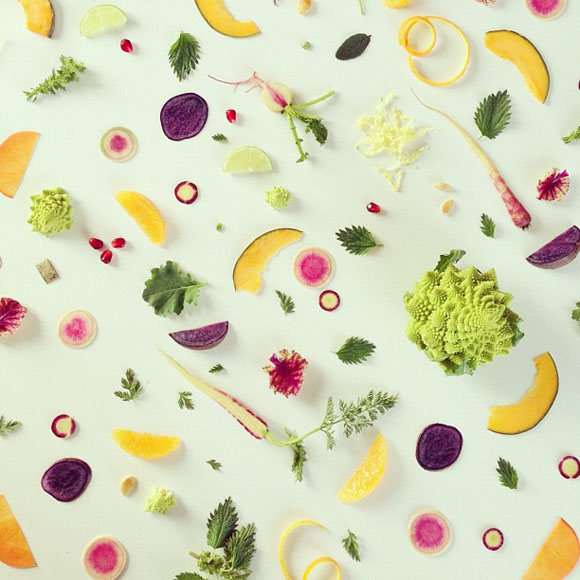 Colorful FOOD COLLAGES  JULIE LEE 8