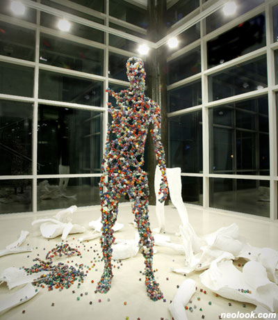 human dice sculptures Kim Hyun 7