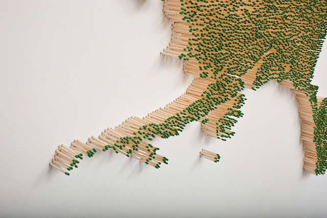 Matchsticks installations Claire Fontaine 8