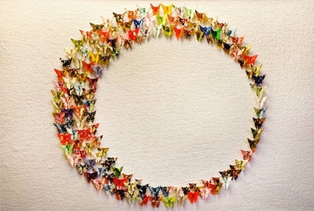 Paper Butterfly Installations Will and Caro 4