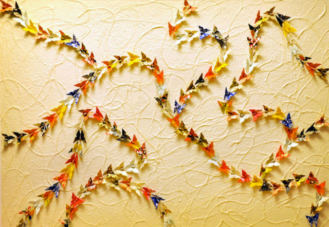 Paper Butterfly Installations Will and Caro 8