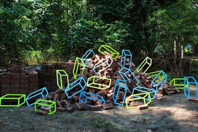 """Bricks"" by Aakash Nihalani"