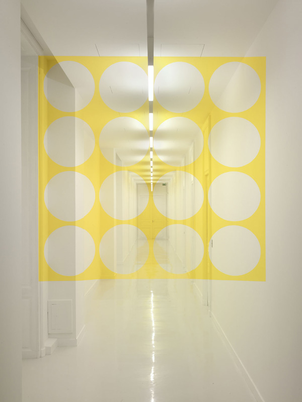 Architectural Felice Varini anamorphic paintings 11