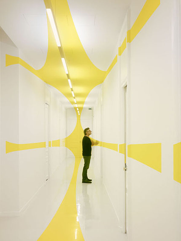Architectural Felice Varini anamorphic paintings 12