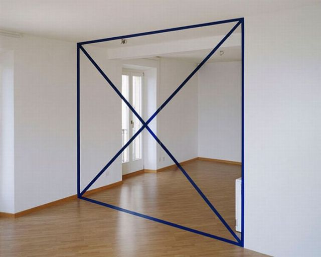Architectural Felice Varini anamorphic paintings 13