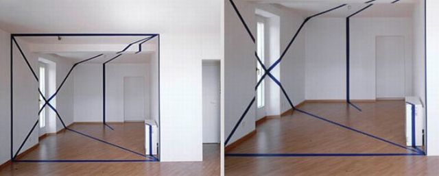 Architectural Felice Varini anamorphic paintings 14