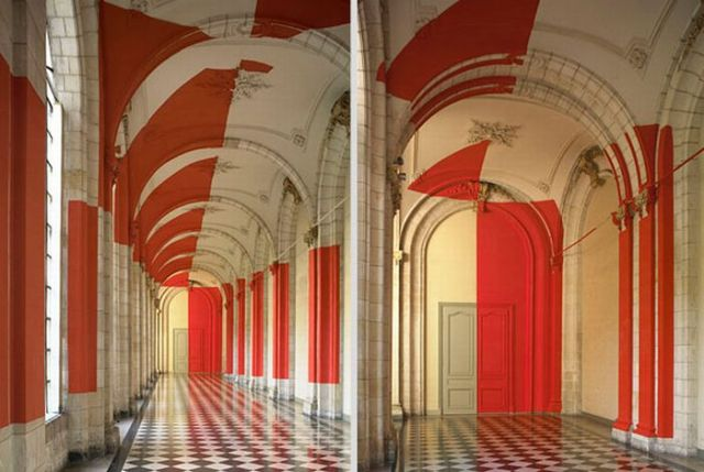 Architectural Felice Varini anamorphic paintings 16