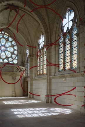 Architectural Felice Varini anamorphic paintings 2