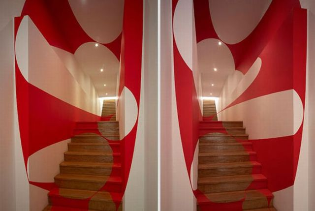 Architectural Felice Varini anamorphic paintings 20