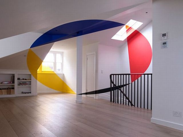 Architectural Felice Varini anamorphic paintings 23