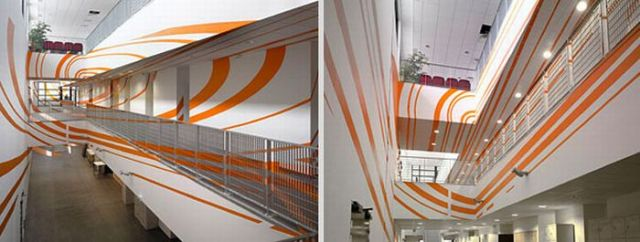 Architectural Felice Varini anamorphic paintings 26