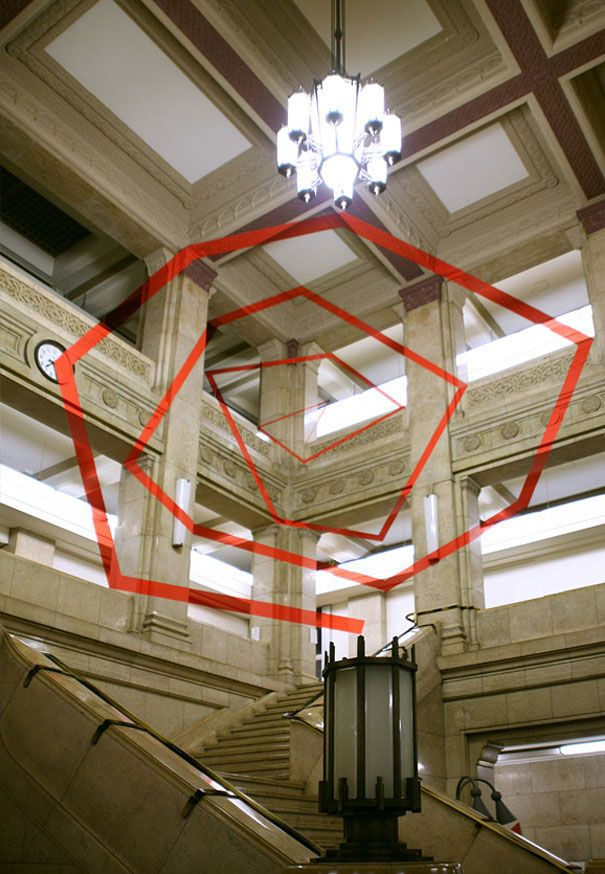 Architectural Felice Varini anamorphic paintings 29