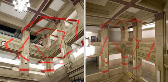 Architectural Felice Varini anamorphic paintings 30